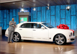 Steve Harvey's wife gifts him a Bentley for 59th birthday (Photo)