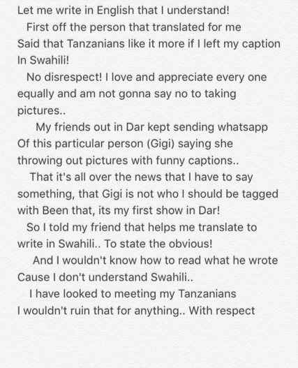 Tekno first apology