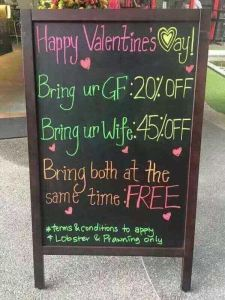 See this restaurant's advert for Valentine's day (Photo) – Another Laugh