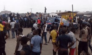 Mile 12 Clash: Police allegedly led Hausas to burn houses, schools and vehicles – Residents