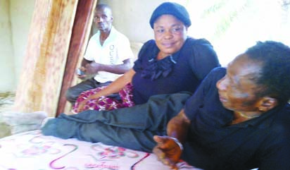 (L to R) Emeka,first son,Franca one of the wives and herbalist, Onuwa