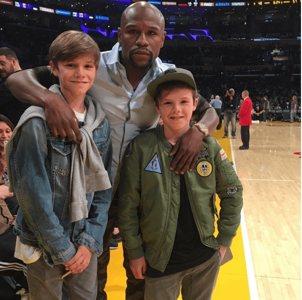David Beckham's children and Floyd Mayweather