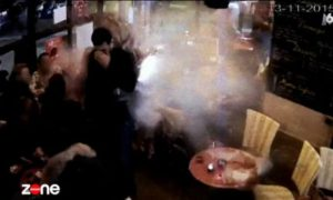 See shocking moment Paris attacker detonates suicide bomb in cafe (Video)