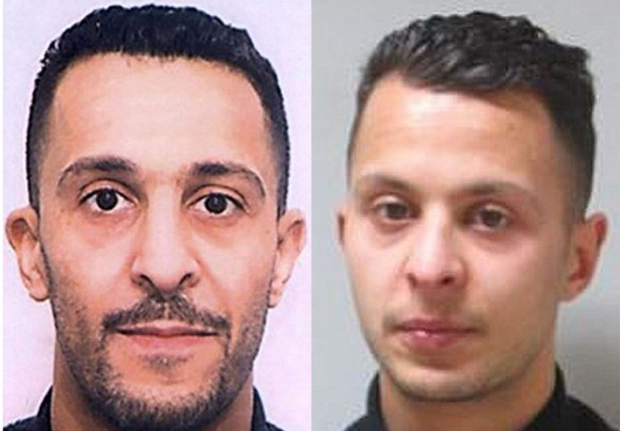 Brahim Abdeslam (left) was the brother of Salah Abdeslam (right)