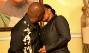 Look at how Rivers governor, Wike is enjoying his wife (Photo)