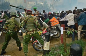 See how Kenya Police violently batter citizens during a protest for election reforms in Nairobi (Graphic Photos + Video)
