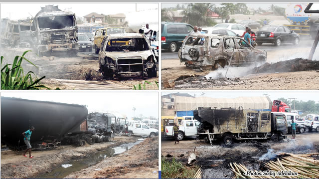 , 13 killed in Lagos-Ibadan Expressway fire (Photo), Effiezy - Top Nigerian News & Entertainment Website