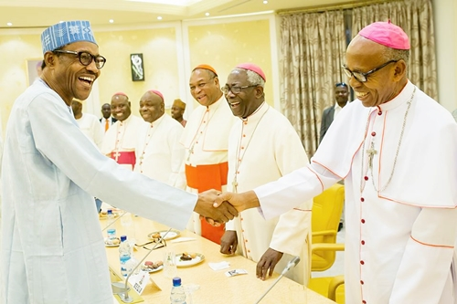 buhari with catholic bishops