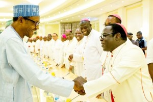 """No plans to Islamize Nigeria"" – Buhari tells Catholic Bishops"