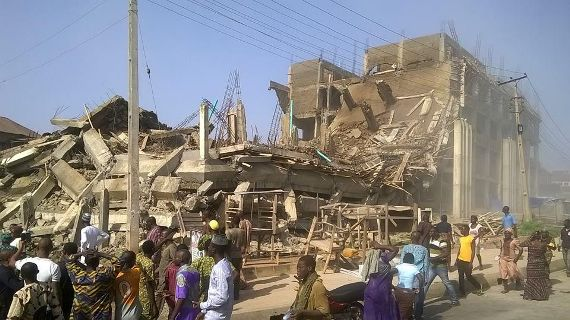 shopping mall collapses in Ogun state