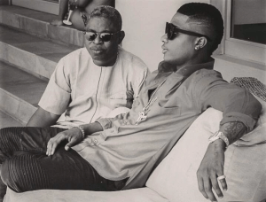 Wizkid with manager, Sunday Are