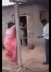 Indian man brutally beats wife & her lover in front of villagers over love affair (Photos + Video)