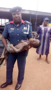 Shocking! NSCDC rescues 9-year old boy chained for weeks in church (Photos)