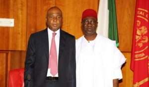 (L to R) Bukola Saraki and Ike Ekweremadu