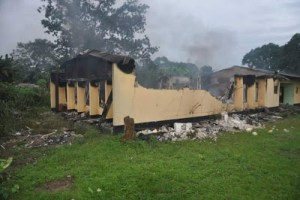 INEC office set ablaze in Rivers state (Photos)
