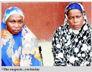 Two women arrested for begging with little babies they rented for N1,500 in Lagos