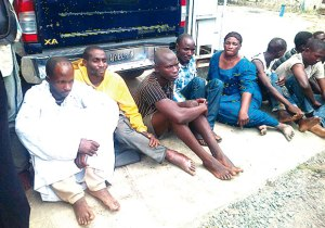 Grandma and six supects held for robbery