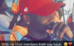 Lil Kesh Performs at his fathers church