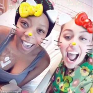 Miley Cyrus moved to tears as she visits an Oncology centre