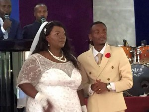See how a 27-year-old Zambian gospel singer married his 45-year-old girlfriend (Photos + Video)