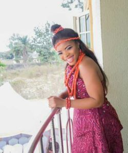 First Photos from Laura Ikeji's traditional marriage,check out her  outfit
