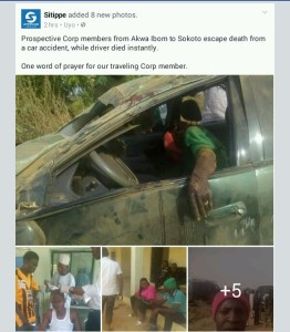 Corp members travelling to Sokoto State involved in an accident