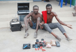 Two members of notorious robbery gang arrested in Lagos (Photo)