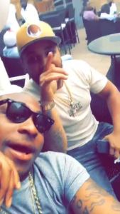 Davido and crew hang out after his return from Gabon