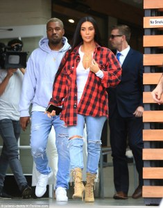 Kim and Kanye step out on lunch date