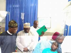Lai Mohammed and Abba Kyari visit the victims of the IDP bomblast