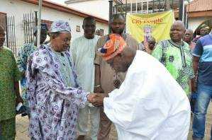 Obasanjo visits the Alaafin of Oyo