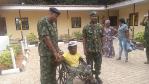 Ebonyi State governor gives N500,000 to Chijioke Oratu, the physically challenged man brutalized by soldiers