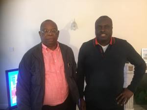 Chief James Ibori hangs out with friends in London