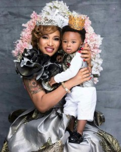Tonto Dikeh and son,King Andre slay in new photoshoots as he clocks one