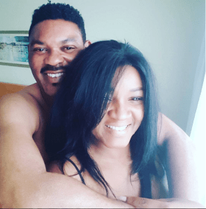 Nollywood actress, Omotola and husband all loved up for valentine (Photo)