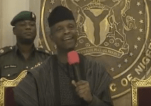 Who knew Osinbajo was this funny, watch as the VP reply comedian Klint da Drunk who gave him N5000 (Video)