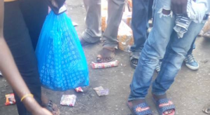 Tragic: Commercial bus knocks down and kills lady selling bread In Lagos (Graphic Video + Photo)