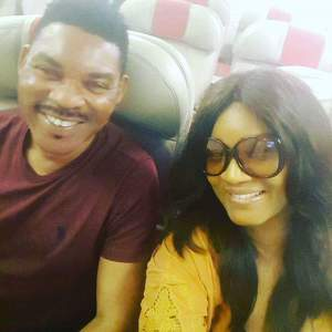 Omotola and her capain husband jet off to Morroco together