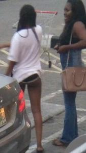 Lady rocks just a shirt and panties to mall in Lagos