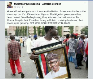 See what a Zambian lady wrote about President Buhari
