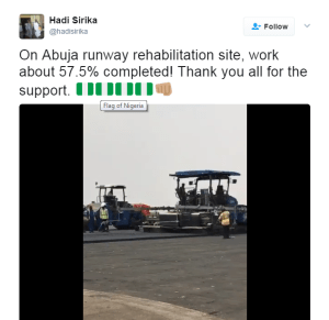 Abuja airport is 96percent complete- Minister of Aviation