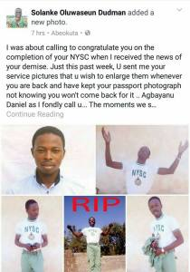 Youth Corp member dies hours before passing out parade in Sokoto