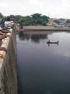 Suicide- Man jumps into a river in Festac