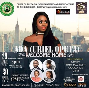Dreams do come true, Imo State holds homecoming party for their daughter,Uriel Oputa