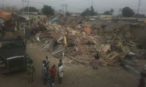 Lagos state government demolishes Sabo market in Ikorodu overnight, without warning traders