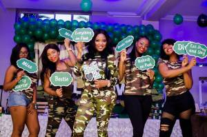 Bride and her friends shoot 'camo bridal themed' party