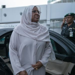 First Lady Aisha Buhari departs Nigeria for London