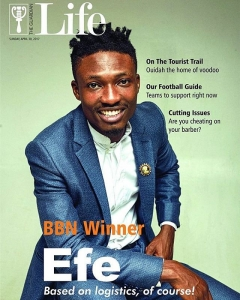 Igwe Efe Ejeba is on the cover page of Guardian Newspapers