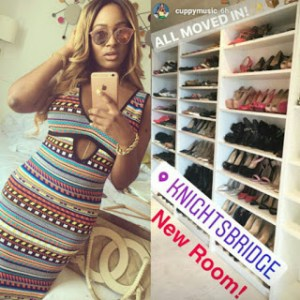 DJ Cuppy shares photo of her shoe closet