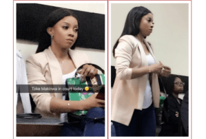 Toke Makinwa appears in court for her Divorce hearing